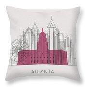 Atlanta Landmarks Throw Pillow