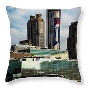 Atlanta Skyline 3 Throw Pillow