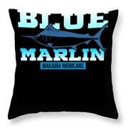 Atlantic Blue Marlin Makaira Nigricans Throw Pillow