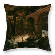 Attack By Pirates Throw Pillow