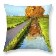 August Landscape Throw Pillow