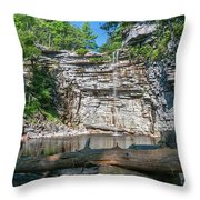 August Morning At Awosting Falls 2019 Throw Pillow