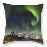 Aurora In Lofoten Throw Pillow