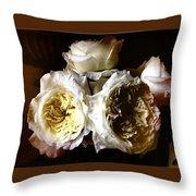 Austin Roses Notan Throw Pillow