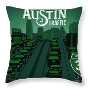 Austin Traffic Throw Pillow