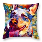 Australian Cattle Dog 2 Throw Pillow