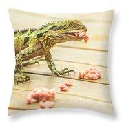Australian Water Dragon Throw Pillow