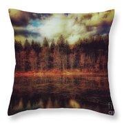 Autumn At The Lake  Throw Pillow