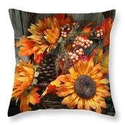 Autumn Bouquet Throw Pillow