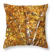 Autumn Golden Leaves Throw Pillow