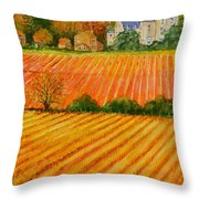 Autumn In French Vineyards Throw Pillow