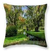 Autumn In Grand-pre Throw Pillow