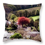 Spring In Mylor Bridge Throw Pillow