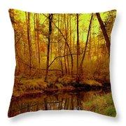 Autumn - Krasna River Throw Pillow