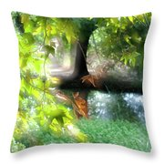 Autumn Leaves In The Morning Light Throw Pillow