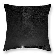 Autumn Night - Sauble Beach - Two Galaxies Bw Throw Pillow