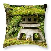 Autumn, Pagoda, Japanese Garden Throw Pillow
