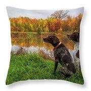 Autumn Pondering Throw Pillow