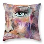 Autumn - Woman Abstract Art Throw Pillow