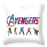 Avengers Team Throw Pillow
