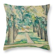 Avenue Of Chestnut Trees At The Jas De Bouffan  Throw Pillow