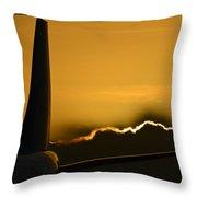 Aviation Sunset Throw Pillow