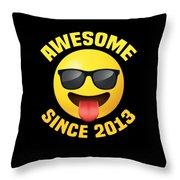 Awemoji 2013 Throw Pillow
