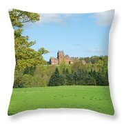 Ayton Castle From South, Berwickshire Throw Pillow