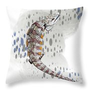 B Is For Blue Tongue Lizard Throw Pillow