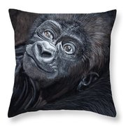 Baby Gorilla Throw Pillow