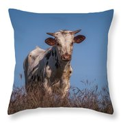 Baby In The Bush Throw Pillow