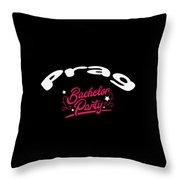 Bachelor Party Shirt Prag Pre Wedding Celebration Tee Throw Pillow