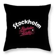 Bachelor Party Shirt Stockholm Pre Wedding Celebration Tee Throw Pillow