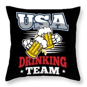 Bachelor Party Usa Drinking Team Beer Party Cheers Gift Throw Pillow