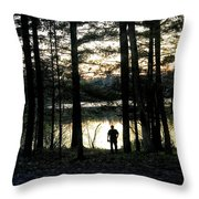 Back To Camp Throw Pillow