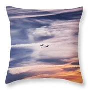 Back To The Sky Throw Pillow