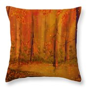 Back Woods Throw Pillow