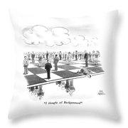 Backgammon Throw Pillow