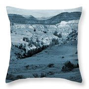 Badlands Shadows And Sunlight Throw Pillow