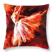Bailarina Throw Pillow