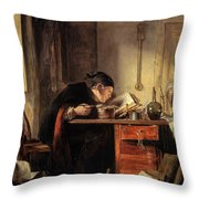 Bailie Duncan Mcwheeble At Breakfast Throw Pillow