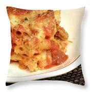 Baked Ziti Serving 2 Throw Pillow