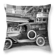 Bakery Car, C1915 Throw Pillow