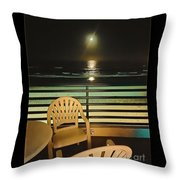 Balcony On The Pacific Oceanside California  Throw Pillow