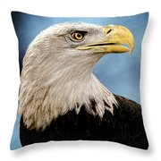 Bald Eagle And Fledgling  Throw Pillow