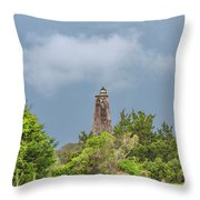 Bald Head Island Lighthouse Throw Pillow