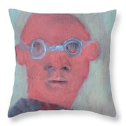 Bald Man In Glasses Throw Pillow
