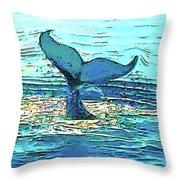 Balene-whales Throw Pillow