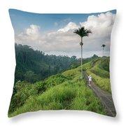Bali Pathway Throw Pillow