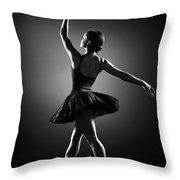 Ballerina Dancing Throw Pillow